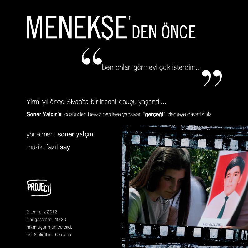 Soner Yalçın'ın Sivas Katliamı'nı anlatan belgesel filmi: Menekşe'den Önce