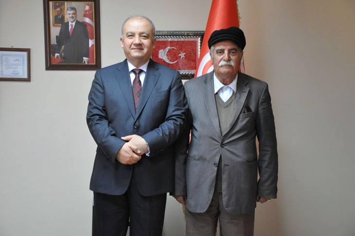 Tunceli Üniversitesi Rektörü Durmuş Boztuğ ve Ahmet Yurt