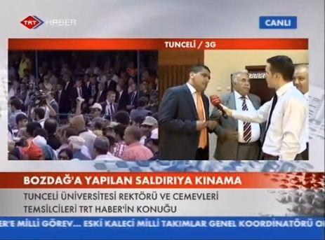 Rektör ve valinin emir eri Ali Ekber Yurt TRT Haber'e konuştu