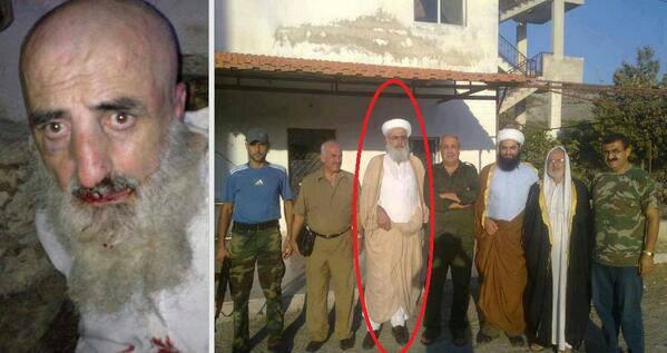 Cihatçı teröristler tarafından kaçırılan Alevi din adamı Şeyh Bedir Ğazal boynu vurularak şehit edildi