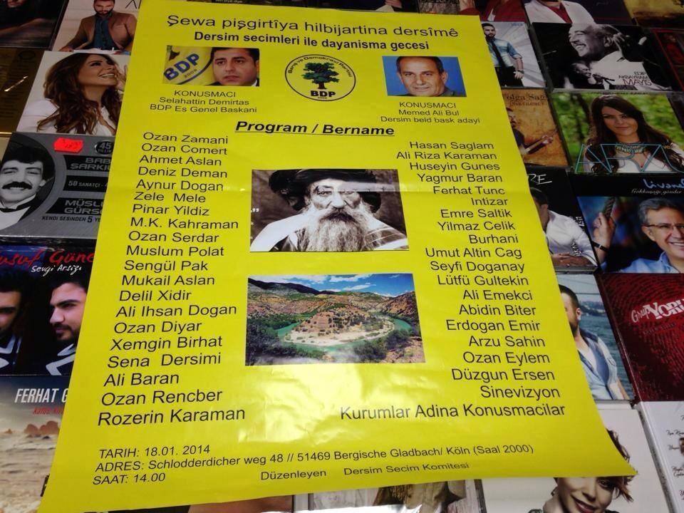 Afişe göre bu listedeki tüm sanatçılar etkinlikte yer alıyor.