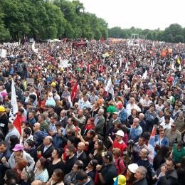 Köln'de Erdoğan protestosu