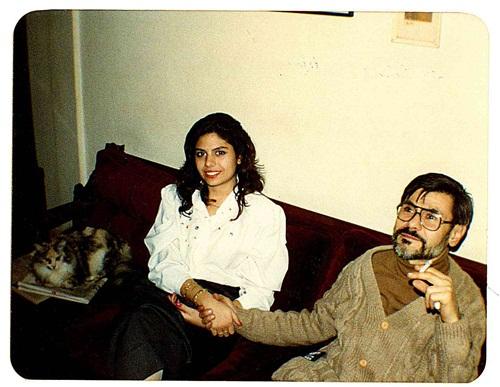 Metin Altıok ve kızı Zeynep Altıok