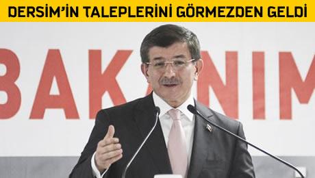 Başbakan Davutoğlu'nun 'Dersim Açılımı' Fos Çıktı!