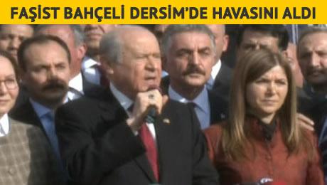 Faşist Devlet Bahçeli'ye Dersim'de Protestolu Karşılama