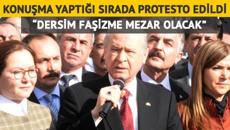 Valilik Önünde Bahçeli'ye Protesto: Dersim Faşizme Mezar Olacak!  – VİDEO