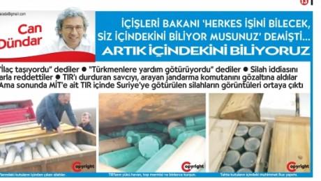 Cumhuriyet, MİT TIR'larında Taşınan Silahların Görüntüsünü Yayınladı
