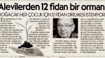 Hacı Bektaş Veli Dergahı Postnişini Veliyettin Hürrem Ulusoy'dan çağrı: 12 Fidandan Bir Ulu Ormana