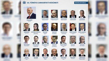 65. Hükümet'in bakanlar kurulu açıklandı