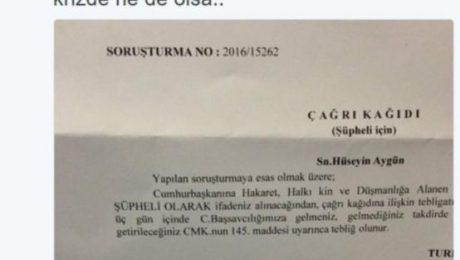 Erdoğan'dan Aygün'e 'hakaret' davası