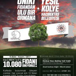 Hacıbektaş'a 10.080 fidan projesi