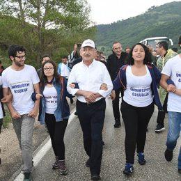Kılıçdaroğlu'nun Adalet Yürüyüşü 8. gününde