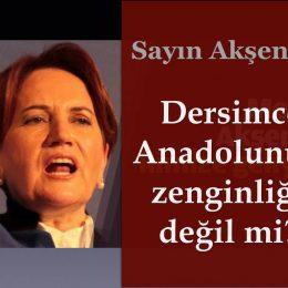 Sayın Akşener Zazaca (Dersimce) Anadolu'nun zenginliği değil mi?